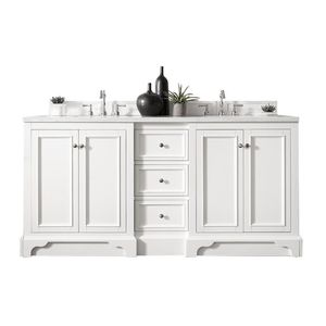 James Martin Signature Vanities De Soto 72 in. W Double Vanity in Bright White with 4cm Carrara White Marble Top for Sale in Dallas, TX