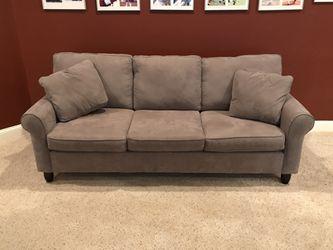 Taupe Sofa Bed w/ Queen size mattress for Sale in Alpharetta,  GA