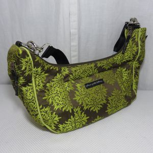 Like new Green with brown Brocade TOURING TOTE Diaper Bag with stroller straps for Sale in Phoenix, AZ