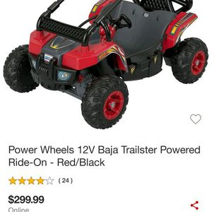 Power Wheel 12v Baja Trailster Powered On Red And Black for Sale in Paterson, NJ