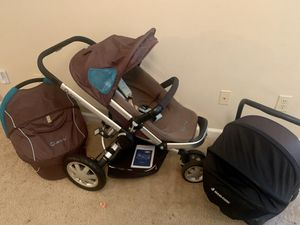 Maxi Cosi Car seat and Quinny Stroller + Carrier Bassinet for Sale in Smyrna, GA