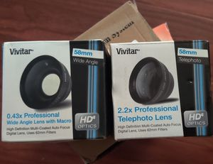 Vivitar 58MM Wide Angle and Telephoto lens for Sale in South Gate, CA