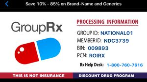 PRESCRIPTION DISCOUNT CARD-not insurance-FREE -USE THIS NOW-NO NEED TO PAY SHIP- for Sale in Paramus, NJ