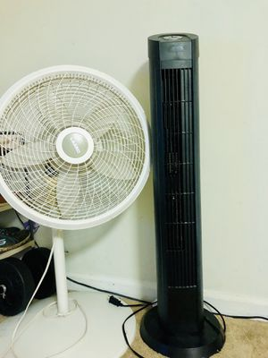 Tower fan and normal white fan for Sale in Elmsford, NY
