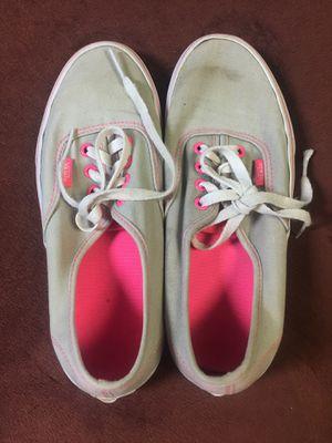 """Vans """"off the wall"""" gray/pink Women's 7.5 for Sale in Burke, VA"""