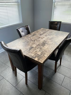 Granite top kitchen table and chairs for Sale in Winter Garden, FL