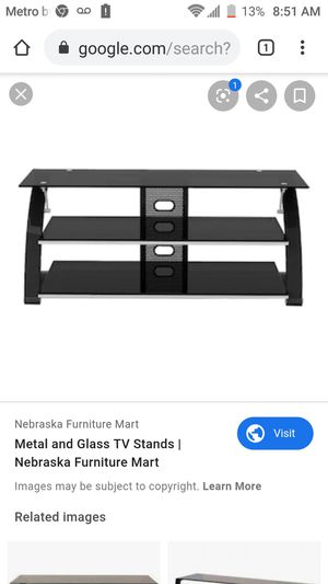 Black tv stand table for Sale in Fresno, CA