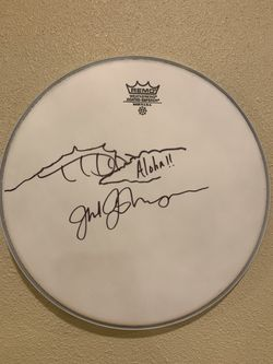 Jack Johnson Signed Drumhead for Sale in Snoqualmie Pass,  WA