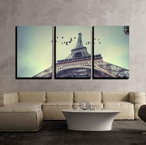 """3 Piece Canvas Wall Art - Window to Paris. Architecture of Paris .France. Europe - Modern Home Decor - 24""""x36""""x3 Panels for Sale in Atlanta, GA"""