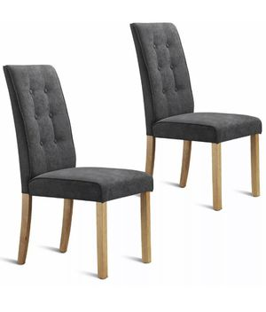 Set of 2 Dining Side Chairs Upholstered Fabric Button Tufted Wooden Legs Kitchen for Sale in Rowland Heights, CA