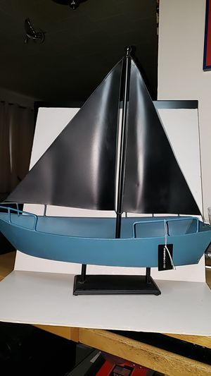 Metal Chalkboard Sails Boat 21in high and 21in long for Sale in La Grange Park, IL