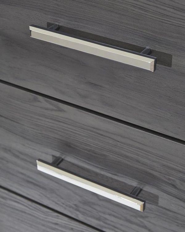 SPECIAL] Ladonna Gray Youth LED Upholsyfctered Panel Bedroom Set