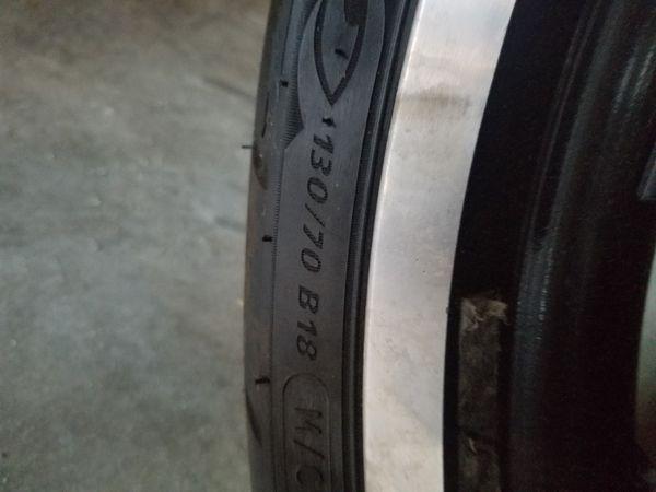Harley Davidson wheel and tire