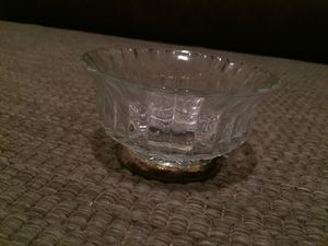 Antique silver glass candy bowl for Sale in St. Louis, MO