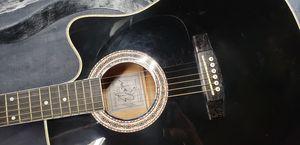 Esteban American Sliver Limited Edition Acoustic/Electric Guitar w/ original his signature for Sale in San Jose, CA