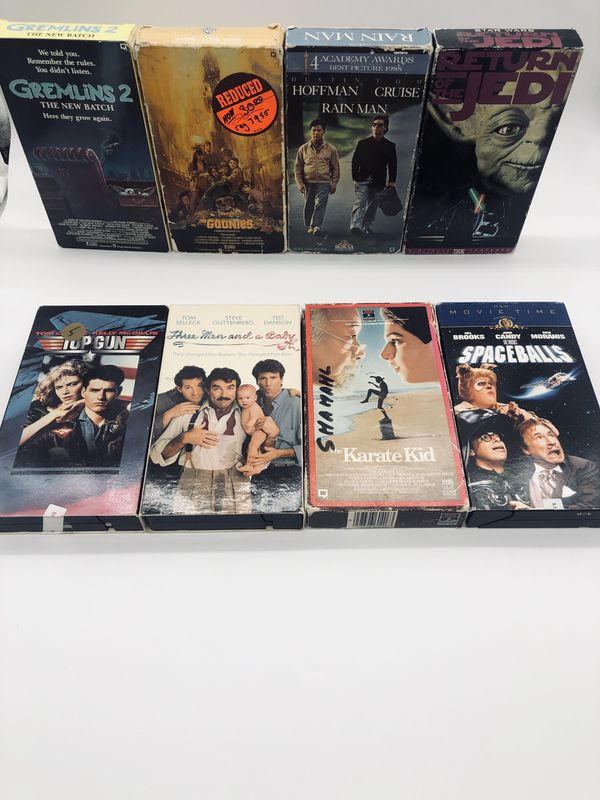 8 very cool VCR Tapes all 8 for $6