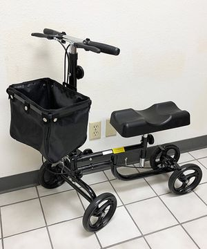 New in box $95 Steerable Knee Walker Scooter w/ Basket Rolling Wheel Handlebar Max Weight: 300lbs for Sale in South El Monte, CA
