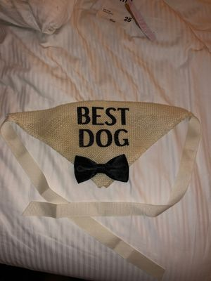 Best dog wedding groomsmen ring bearer collar for Sale in West Covina, CA