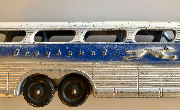 Vintage Die Cast Greyhound Bus Tootsie Toy For Sale In