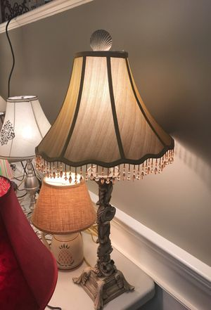 """30"""" tall Shell Style Lamp with Shade for Sale in Northborough, MA"""