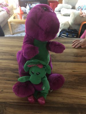 1992 Barney and baby bop plushes for Sale in Davis Junction, IL