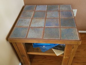 Small blue tiled table for Sale in Tucson, AZ