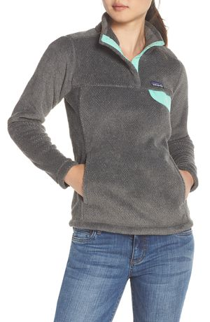 Patagonia Women's Re-Tool Snap-T Pullover Sweater - Ink Black w/ Vjosa Green for Sale in Kennedale, TX