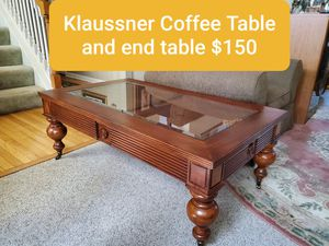 Beautiful solid wood Klaussner Coffee Table and End Table $150 for Sale in Lewis Center, OH