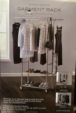 Extra Large Dual Bar Garment Rack for Sale in Gainesville, FL