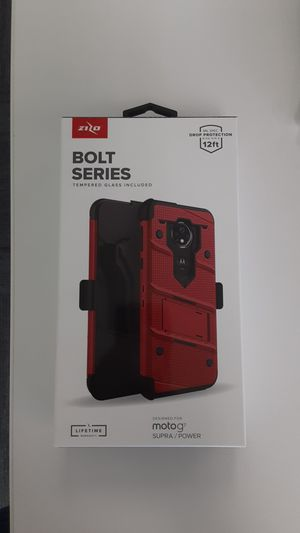 Moto g7 bolt series case and glass for Sale in San Angelo, TX