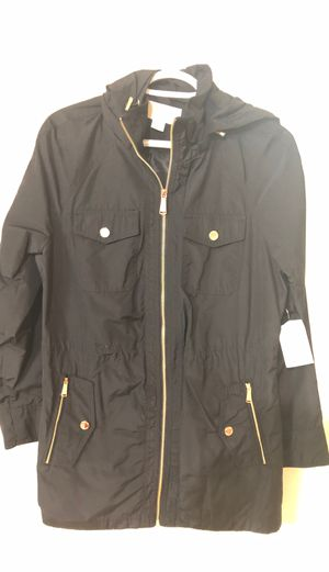 Black Michael Kors authentic women's jacket size medium brand em with tags for 120$ only great deal MK for Sale in Bellevue, WA