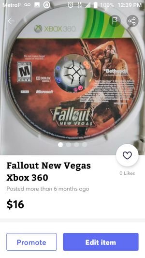 Fallout New Vegas XBox 360 for Sale in Nashville, TN