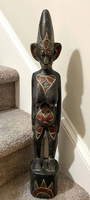 condition: excellent delivery available more ads by this user Vintage Made In Indonesia Tribal Art Pregnant Woman Hand Carved Wood Statue Materni for Sale in Chapel Hill, NC