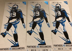 3 Tickets - Carolina Panthers vs. Tampa Bay Buccaneers for Sale in Charlotte, NC