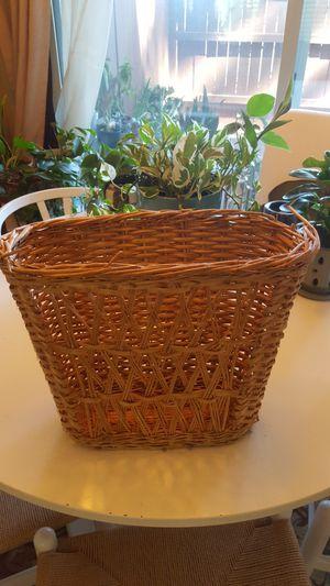 Wicker basket magazine holder for Sale in San Diego, CA