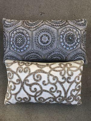 Set of two sparkle rhinestone Xmas Christmas decor pillows for Sale in Ontario, CA