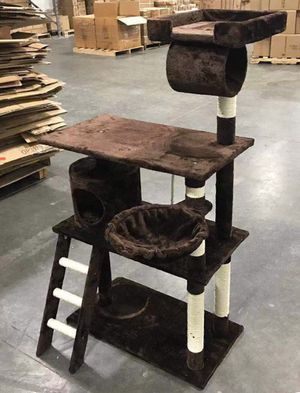 New in box 55 inches tall cat tree scratching play post pet furniture beige brown black or navy blue casa del arbol del gato for Sale in La Mirada, CA