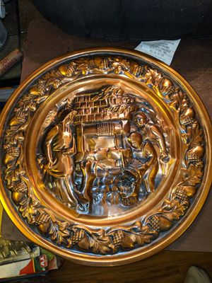 Copper craft guild wall plate for Sale in Central Point, OR