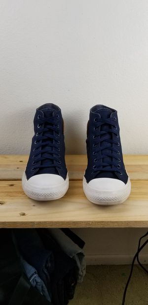 Converse All Star Navy Blue Leather Men Size 9 for Sale in Riverside, CA
