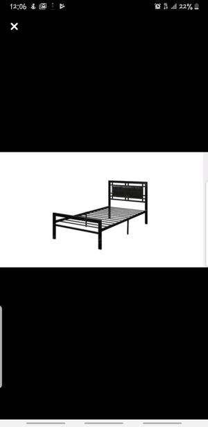 Metal Twin Bed Frame for Sale in Springville, UT