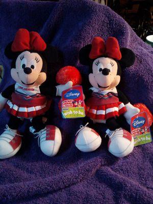 Two Disney Cheerleader Minnie mouse for Sale in Hemet, CA