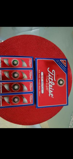 (NEW) TITLEIST DT/SOLI (4) 3 PACKS! for Sale in Delray Beach, FL