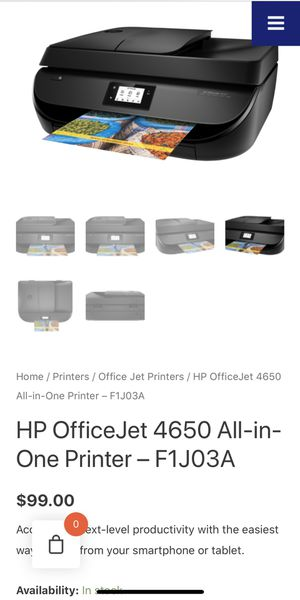 Hp OfficeJet 4650 touchscreen + 3 brand new tricolor cardridges for Sale in Miami, FL