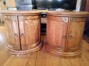 Matching vintage side table cabinets for Sale in Spokane, WA
