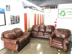 Beautiful leather 3piece set $1450 for Sale in Gaithersburg, MD