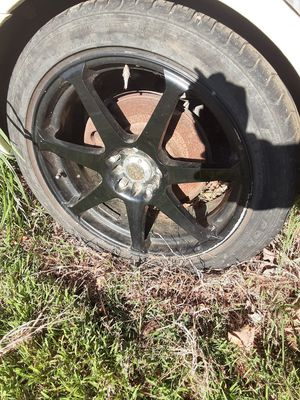 Set of 4 18 inch Black Alloy Rims for Sale in Bethpage, TN