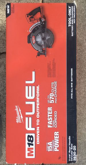 """Milwaukee 2830-20 M18 FUEL Rear Handle 7-1/4"""" Circular Saw (Bare Tool for Sale in Fremont, CA"""