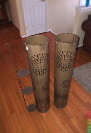 2 outdoor candle holders for Sale in Fairfax, VA