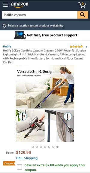 HoLife cordless vacuum cleaner for Sale in Henderson, NV