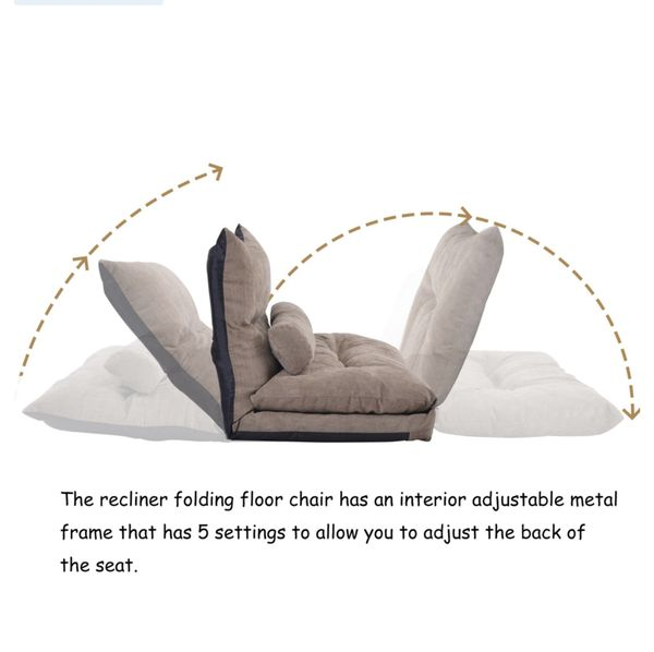 Brand New! Floor Sofa Bed, 71*43inch,Adjustable Floor Couch and Sofa, Foldable Chaise Lounge Sofa Chair with 5 Reclining Position, Lazy Sofa